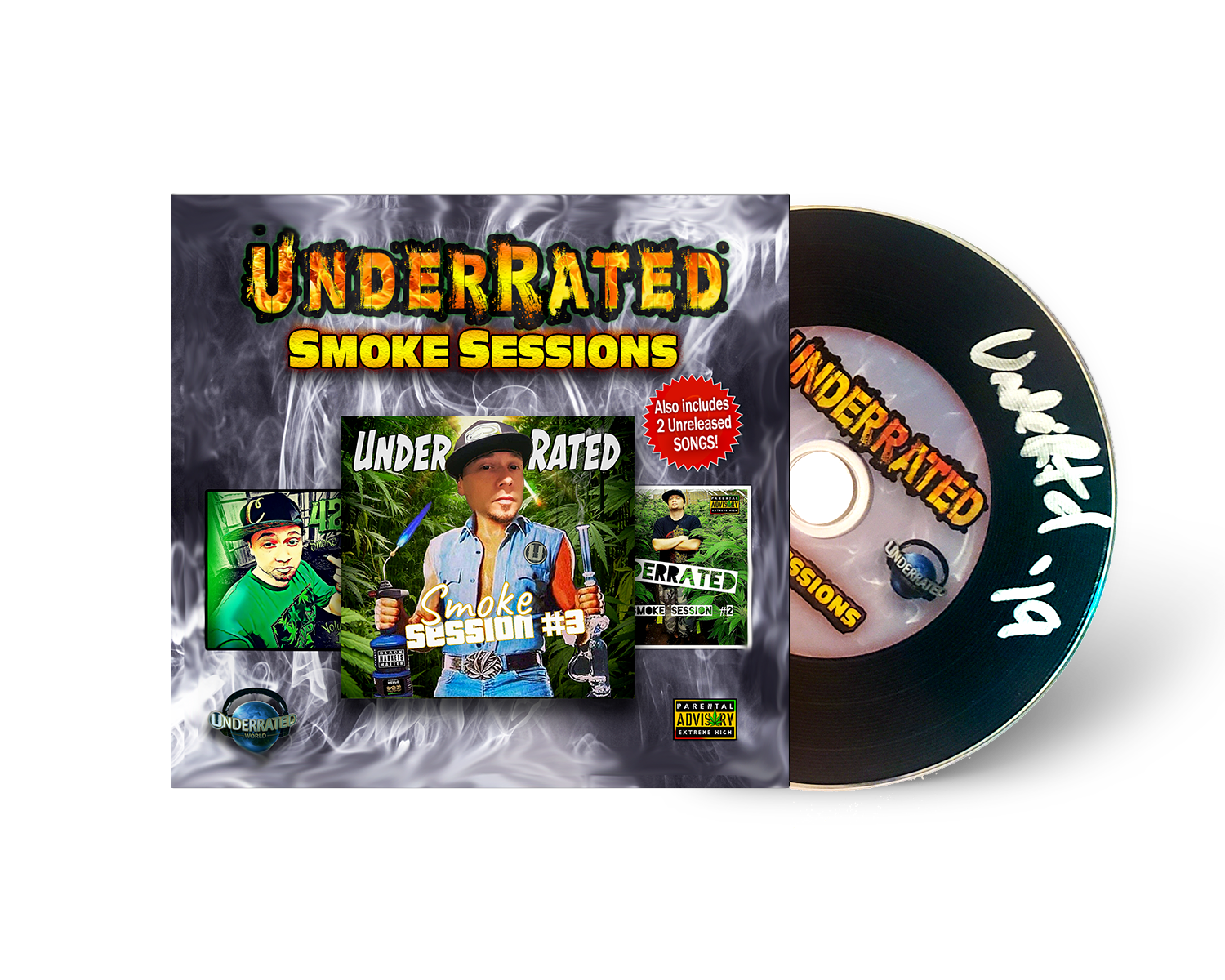 UnderRated - Smoke Sessions CD (Autographed)